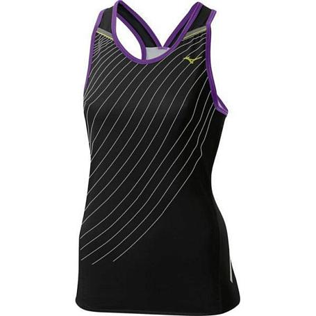 Купить Майка беговая Mizuno 2014 DryLite Premium Singlet чер/бел, Одежда для бега и фитнеса, 1139452