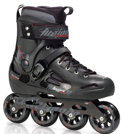 Купить Роликовые коньки Rollerblade 2012 FUSION 84 black, Ролики детские, 786665
