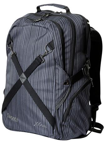 Купить Рюкзак Bergans XO 28L Webs, Black/Soild Dark Grey Stripes Рюкзаки школьные 1137072