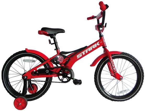 Купить Велосипед Stark Tanuki 18 Boy 2017 Красно-Черный, До 6 лет (колеса 12 -18 ), 1317878