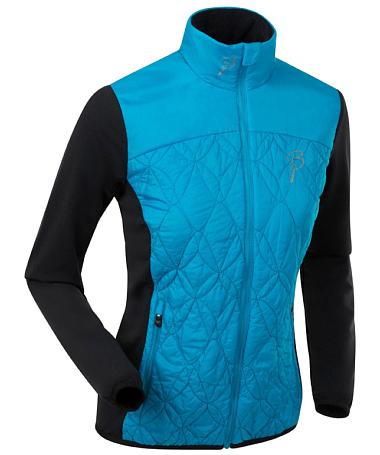 Купить Куртка беговая Bjorn Daehlie JACKET/PANTS Jacket EASY Women Hawaiian Ocean/Black (Голубой/черный) Одежда лыжная 1102965