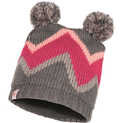 Шапка Buff CHILD KNITTED & POLAR HAT ARILD GREY CHILD