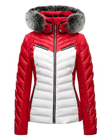Купить Куртка горнолыжная TONI SAILER 2017-18 EDIE fur classic red Одежда 1364968