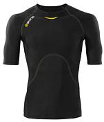 Футболка беговаяОдежда для бега и фитнеса<br>Разработанная для тренировок и соревнований, компрессионная футболка с длинным рукавом SKINS A400 действительно заряжает вас энергией. Уникальная технология ускоряет кровоток, чтобы поставить больше кислорода основным мышцам для большей работоспособности и выносливости.<br>Благодаря технологиям «400Fit» и динамической градиентной компрессии вы заметите, что лучше контролируете тело и прикладываемые усилия, а так же меньше чувствуете болезненность мышц. <br>Биомеханическим образом расположенные вставки&amp;nbsp;&amp;nbsp;из материала с эффектом памяти вдоль позвоночника, лопаток и косых мышц живота&amp;nbsp;&amp;nbsp;обеспечивают постоянную управляемую компрессию, но при этом не ограничивают движения. Технология «Fast wicking» отводит влажность от кожи и помогает регулировать температуру тела,&amp;nbsp;&amp;nbsp;а UPF 50 &amp;#43; обеспечивает защиту от ультрафиолета.&amp;nbsp;&amp;nbsp;Изделия линейки A400 обладает антибактериальными и дышащими свойствами. Анатомический крой, рукав реглан идеально облегает плечо и руку, обеспечивая свободу движений, удобный вырез горловины.Силиконовая тесьма «Gripper» с внутренней стороны удерживает нижний край и не позволяет футболке подскакивать, когда вы двигаетесь.Используйте компрессионную экипировку линейки SKINS A400 чтобы тренироваться и соревноваться лучше, как никогда раньше.<br><br>Пол: Мужской<br>Возраст: Взрослый<br>Вид: майка, футболка