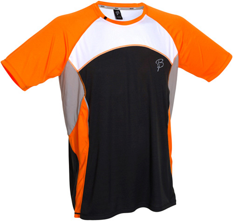 Футболка беговая Bjorn Daehlie T-shirt TRAIL (Orange Popsicle/Limestone) оранж/св. серый