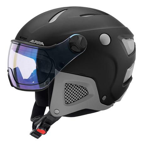 Купить Зимний Шлем Alpina ATTELAS Visor VHM black-grey matt, Шлемы для горных лыж/сноубордов, 1279907