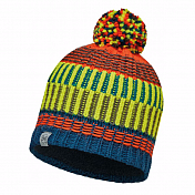 Шапка BUFF JUNIOR KNITTED & POLAR HAT BUFF HOPS SEAPORT BLUE-SEAPORT BLUE-Standard/OD