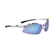 Очки солнцезащитные BBB Impulse PC smoke blue MLC lens blue tips Team white (BSG-38)