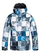 Куртка сноубордическая Quiksilver 2015-16 Mission Print Y B SNJT CHECK_KASPERS_SNOW_WHITE