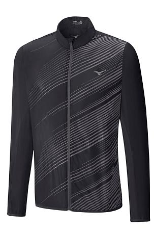 Купить Куртка беговая Mizuno 2017 Premium Aero Jacket чер/т.сер, Одежда для бега и фитнеса, 1334667