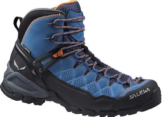 Купить Ботинки для треккинга (высокие) Salewa 2017 WS ALP TRAINER MID GTX Washed Denim/Carrot Треккинговая обувь 1205611