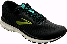 Беговые кроссовки элит BROOKS Adrenaline GTS 20 Black/Lime/Blue Grass
