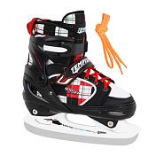 Коньки ледовые детскиеКоньки ледовые<br>Коньки ледовые детские TEMPISH VERSO ICE<br><br>Назначение: для свободного катания и для отдыха, для начинающих и преклонных конькобежцев<br><br>Внешний материал: высокопрочный PE, 3 части, регулировка длины, полумягкие, застёжки с<br>системой AUTO LOCK , шнурки, ремешок VELCRO.<br><br>Внутренний материал: NYLON/NYLEX, высокопрочный ПВХ, анатомическая стелька, средней<br>высоты ботинок.<br><br>Лезвие: TEMPISH UNI, нержавеющая сталь<br><br>Размер: настраиваемые, &amp;#40;26 – 29&amp;#41;, &amp;#40;30 – 33&amp;#41;, &amp;#40;34 – 37&amp;#41;<br><br>Пол: Унисекс<br>Возраст: Детский