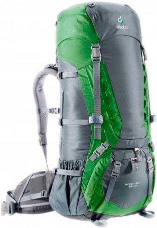 Купить Рюкзак Deuter 2015 Aircontact 65 + 10 granite-emerald Рюкзаки туристические 1072938