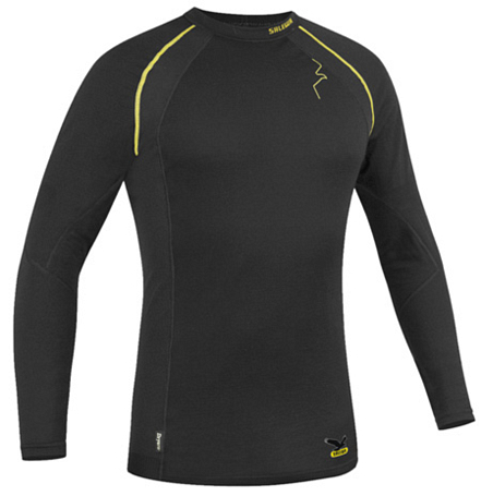 Футболка Salewa LIGHT WARM M L/S TEE black (черный)