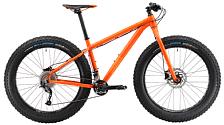 ВелосипедФэтбайки<br>Мощный горный велосипед для экстремального катания по пересеченной местности<br> <br> <br> Особенности:<br> <br> - широкие, износостойкие покрышки обеспечат отличный накат и высокую проходимость на любом типе трассы<br> - вес 15 кг<br> <br> <br> Технические характеристики:<br> <br> Рама: 26 Butted 6061 Aluminium, Tapered 1-1/8 – 1.5 headtube, 190 мм, QR Dropouts 9 мм<br> Размер рамы: S, M, L, XL <br> Вилка: Rigid Fork 26, Aluminium, Suspension Adjusted length, Tapered steerer, Post mounts For Disc brake<br> Тип вилки: жесткая<br> Диаметр колес: 26<br> Кол-во скоростей: 18<br> Переключатель задний : Shimano Alivio RD-M4000, Long Cage<br> Переключатель передний: Shimano Deore Direct Mount FD<br> Шифтеры: Shimano Acera SL-M3000, 2/3 x 9<br> Тип тормозов: дисковый гидравлический<br> Тормоза: Shimano BL-M315, диаметр ротора 180 мм<br> Система: Fatbike Specific, 32 x 22T, L: 175 мм<br> Кассета: Shimano CS-HG300-9, 11-34T<br> Покрышки: Vee tire Bulldozer 26 x 4.7, Foldable 120TPI,Tubeless Ready
