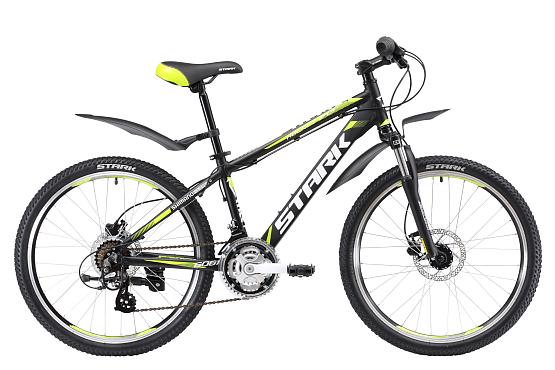 Купить Велосипед Stark Rocket 24.3 HD 2017 Черно-Зеленый, Подростковые велосипеды, 1317860