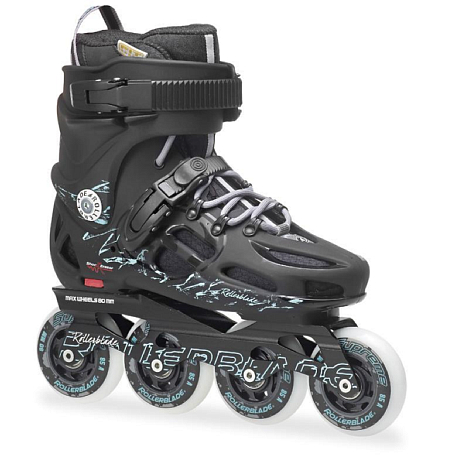 Купить Роликовые коньки Rollerblade 2014 TWISTER 80 W BLACK/LIGHT GREEN Ролики взрослые 1076081