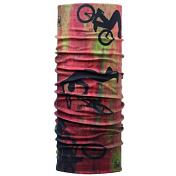 БанданаАксессуары Buff ®<br>Бесшовная бандана-труба из специальной серии Original BUFF®. Original BUFF® - самый популярный универсальный головной убор из всех серий. Сделан из микрофибры - защищает от ветра, пыли, влаги и ультрафиолета. Контролирует микроклимат в холодную и теплую погоду, отводит влагу. Ткань обработана ионами серебра, обеспечивающими длительный антибактериальный эффект и предотвращающими появление запаха. Допускается машинная и ручная стирка при 30-40°. Материал не теряет цвет и эластичность, не требует глажки. Original BUFF® можно носить на шее и на голове, как шейный платок, маску, бандану, шапку и подшлемник. Свойства материала позволяют использовать бандану Original BUFF® в любое время года, при занятиях любым видом спорта, активного отдыха, туризма или рыбалки.Состав: 100% полиэстер
