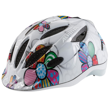 Купить Летний шлем Alpina JUNIOR / KIDS Gamma 2.0 Flash white flower, Шлемы велосипедные, 1180163