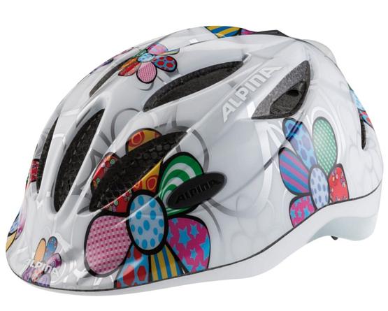 Купить Летний шлем Alpina JUNIOR / KIDS Gamma 2.0 Flash white flower Шлемы велосипедные 1180161