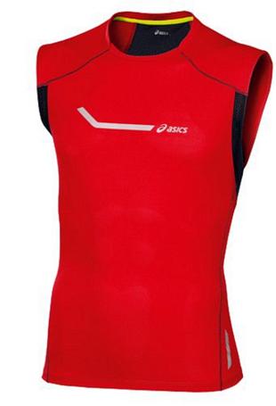 Купить Майка беговая Asics 2013 SLEEVELESS TOP Красный Одежда для бега и фитнеса 907660