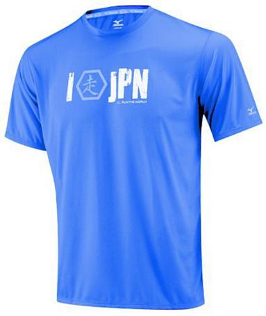 Купить Футболка беговая Mizuno 2013 DryLite I RUN Tee Blue, Одежда для бега и фитнеса, 901859