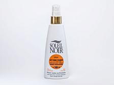 КремКосметика и уход<br>Последняя разработка лаборатории SOLEIL NOIR — инновационное средство с гиалуроновой кислотой и коллагеном. Молочко обеспечивает не только защиту от солнца, но и комплексный уход и омоложение кожи. Гиалуроновая кислота поддерживает водный баланс кожи, а коллаген разглаживает и придает коже упругость. В составе средства содержится 3% мультивитаминов и 2% алоэ вера, которые обеспечивают питание и защиту от разрушительного действия свободных радикалов.<br>Объем 150 мл <br><br>•&amp;nbsp;&amp;nbsp;&amp;nbsp;&amp;nbsp;4 химических фильтра защиты от лучей спектра А и В<br>•&amp;nbsp;&amp;nbsp;&amp;nbsp;&amp;nbsp;Морской коллаген и глицерин стимулируют регенерацию<br>•&amp;nbsp;&amp;nbsp;&amp;nbsp;&amp;nbsp;Гиалуроновая кислота снижает уровень потери влаги<br>•&amp;nbsp;&amp;nbsp;&amp;nbsp;&amp;nbsp;Витамин Е и pro-А оказывает антиоксидантное действие<br>•&amp;nbsp;&amp;nbsp;&amp;nbsp;&amp;nbsp;Экстракт алоэ вера увлажняет, успокаивает и снимает раздражение<br>•&amp;nbsp;&amp;nbsp;&amp;nbsp;&amp;nbsp;Бета-каротин &amp;#40;Pro-Retinol&amp;#41; — мощный антиоксидант, защищает от солнечного излучения, помогает получить ровный и стойкий загар и предотвратить старение кожи<br>•&amp;nbsp;&amp;nbsp;&amp;nbsp;&amp;nbsp;Провитамин В5 способствует регенерации, повышению эластичности и смягчению кожи<br>•&amp;nbsp;&amp;nbsp;&amp;nbsp;&amp;nbsp;Масла оливы, зародышей кукурузы, шиповника и бурачника питают и восстанавливают<br>•&amp;nbsp;&amp;nbsp;&amp;nbsp;&amp;nbsp;Экстракт листьев розмарина снимает воспаление<br><br>Применение: нанести перед выходом на солнце. Обновлять слой средства для поддержания защиты