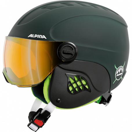 Купить Зимний Шлем Alpina CARAT LE VISOR HM pine-green matt Шлемы для горных лыж/сноубордов 1314519
