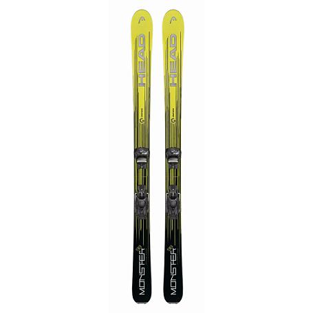 Купить Горные лыжи с креплениями HEAD 2017-18 Monster SLR2 (117-157)+SLR 7.5 neon yellow/black 1365243
