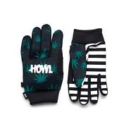 Перчатки горныеПерчатки, варежки<br>Перчатки горные HOWL ALDER . Внешняя и внутренняя сторона полиэстер. Манжеты из неопрена.