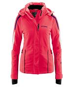 Куртка горнолыжнаяОдежда горнолыжная<br>На синей или черной трассе, при солнечной погоде или в метель: эта горнолыжная куртка будет просто идеальной, защитная мембрана mTEX обеспечит водонепроницаемость и защиту от ветра, а качественный утеплитель подарит уют и тепло.  Эта куртка имеет очень женственный крой и много практичных деталей, таких как отстегивающийся капюшон, фиксированная снегозащитная юбка, внутренний карман и эластичные внутренние манжеты с прорезями для больших пальцев, и это делает данную модель просто незаменимой для всех лыжников.