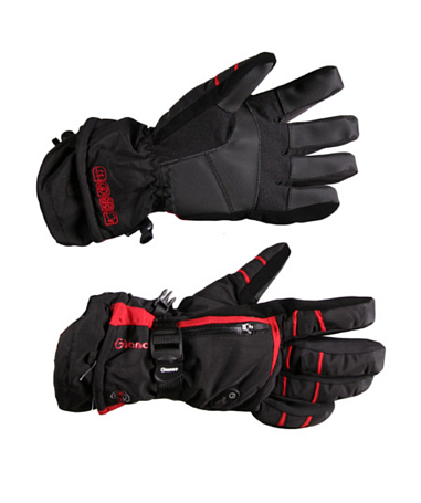 Перчатки горные GLANCE Function Cruiser black/red