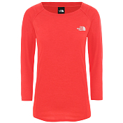Футболка для активного отдыха The North Face 2020 Hikesteller 3/4 Sleeve Top Cayenne Red Dark Heather