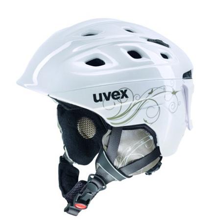 Купить Зимний Шлем UVEX Funride 2 Lady White/Gold Shiny, Шлемы для горных лыж/сноубордов, 847646