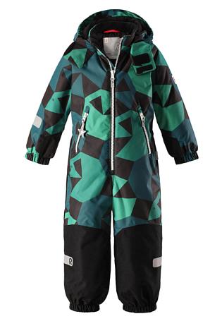 Купить Комбинезон горнолыжный Reima 2017-18 Snowy Green Детская одежда 1351637