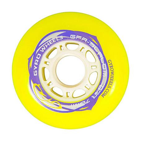 Купить Колеса GYRO GFR SLALOM 76 мм/83А yellow, Аксессуары для роликов, 745539