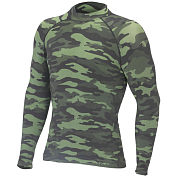 Футболка с дл. рукавом Accapi 2018-19 polar bear free time LONG SL. SHIRT MAN - CAMOUFLAGE black / green