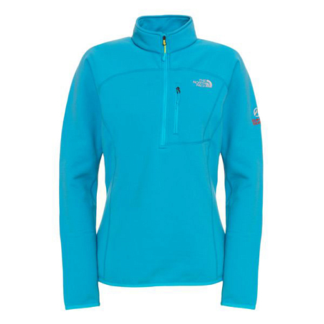 Жакет туристический THE NORTH FACE 2012-13 Summit W FLUX POWER STRETCH 1/4 ZIP (TURQUOISE BLUE) синий