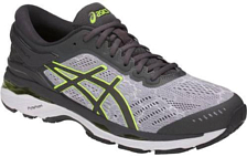 Беговые кроссовки элит Asics 2018 Gel-Kayano 24 Lite-Show Grey/Dark Grey/Yellow