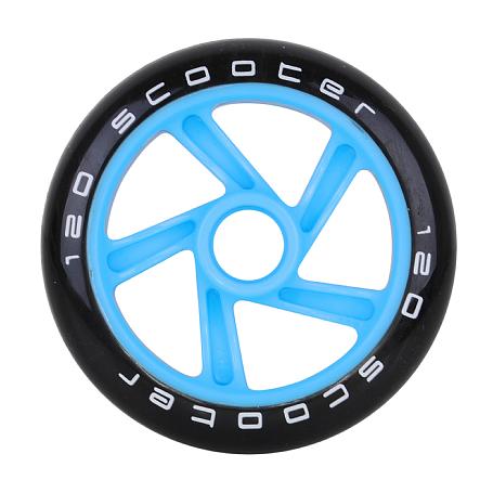 Купить Колесо для самоката TEMPISH 2016 wheels 120x24 mm PU 87A Чёрный/Голубой, Колеса самокатов, 1177735