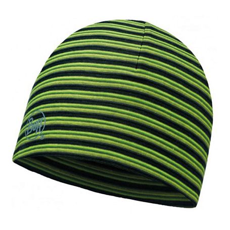 Купить Шапка BUFF MICROFIBER REVERSIBLE HAT YELLOW FLUOR STRIPES Банданы и шарфы Buff ® 1263562