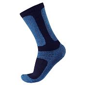 НоскиНоски<br>Длинные трикотажные носки для зимних прогулок и катания на лыжах<br> <br> -24% ШЕРСТЬ 66% COOLMAX® 5% ЭЛ 5% ПА<br> -сохраняют тепло даже после намокания<br> -быстро сохнут и сохраняют тепло, отводят влагу<br> -усиление на ступне, лодыжках, больших пальцах<br> -благодаря удлиненной резинке плотно сидят на ноге<br>