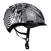 Велошлем Casco YOUTH & KIDS Young Generation black white