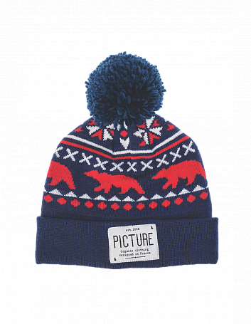 Купить Шапка Picture Organic 2015-16 RACOON BEANIE Navy Головные уборы, шарфы 1219499
