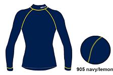 Футболка с длинным рукавом ACCAPI TECNOSOFT PLUS EQT LONGSL.LUPETTOMAN navy/lemon (синий/желтый)