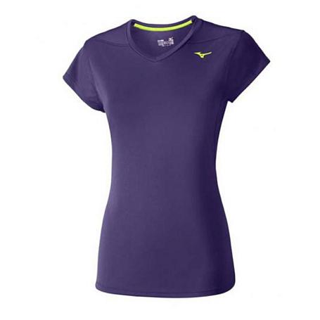 Купить Футболка беговая Mizuno 2016 Core Tee пурпурный Одежда для бега и фитнеса 1264969