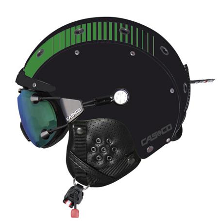 Купить Зимний Шлем Casco SP-3 Airwolf Racing black green matt shiny, Шлемы для горных лыж/сноубордов, 1046775