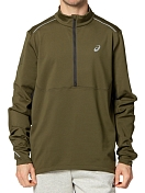 Куртка беговая Asics 2020-21 Lite-Show Winter 1/2 Zip Top Smog Green/Graphite Grey