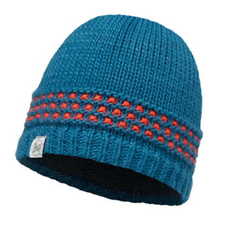Шапка BUFF KNITTED KIDS COLLECTION JUNIOR KNITTED & POLAR HAT BUFF JAMBO SEAPORT BLUE